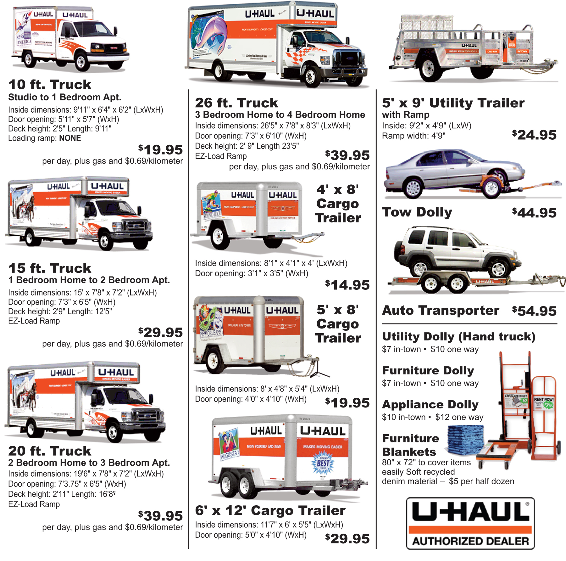 U Haul Truck Sizes And S9 000 Best Used Trucks Best Cars